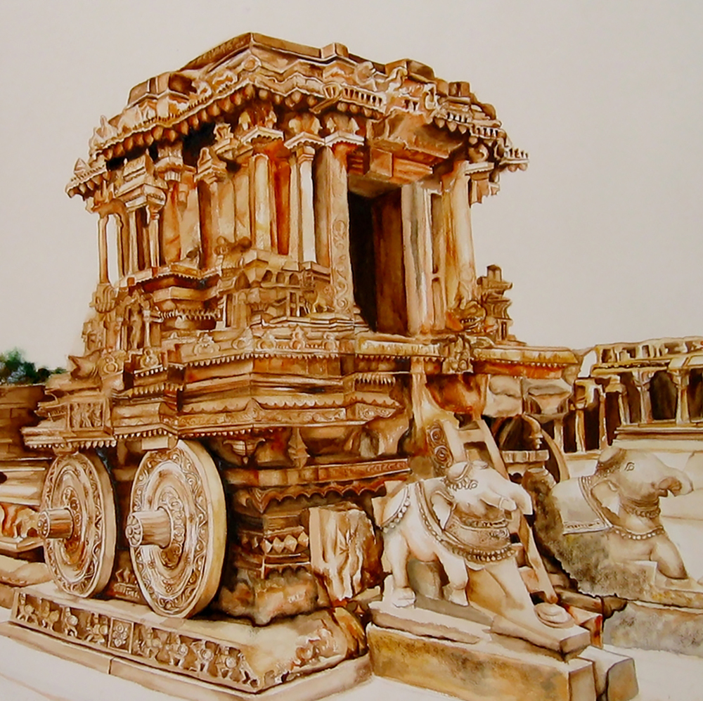 Stone Chariot at Hampi - Detail