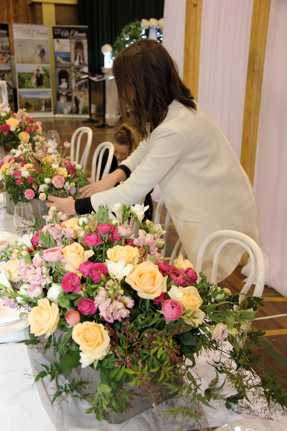 Styling our display at the EG Wedding Expo 2015. Image:  Hayley Smith