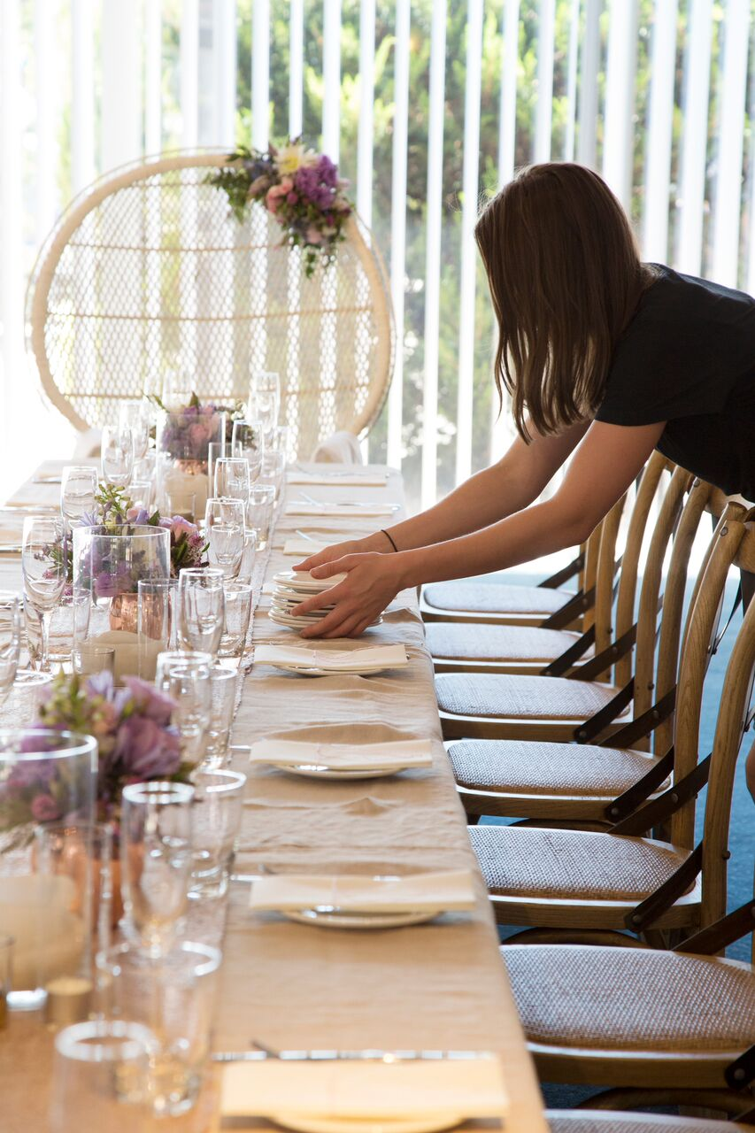 Setup of  Tarryn's Bridal Shower . Image:  Leni Lee
