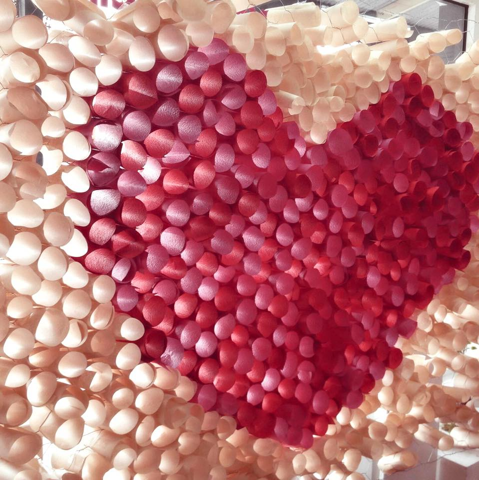 Etc. Events    I   Paper heart installation. Visual Merchandising