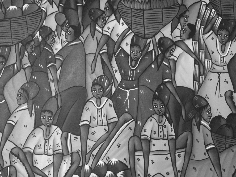 Piece by Haitian artists Millien