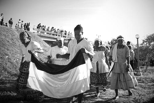 Parade led by Garifuna women