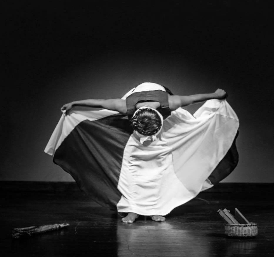 Traditional dress and dance of Garifuna woman