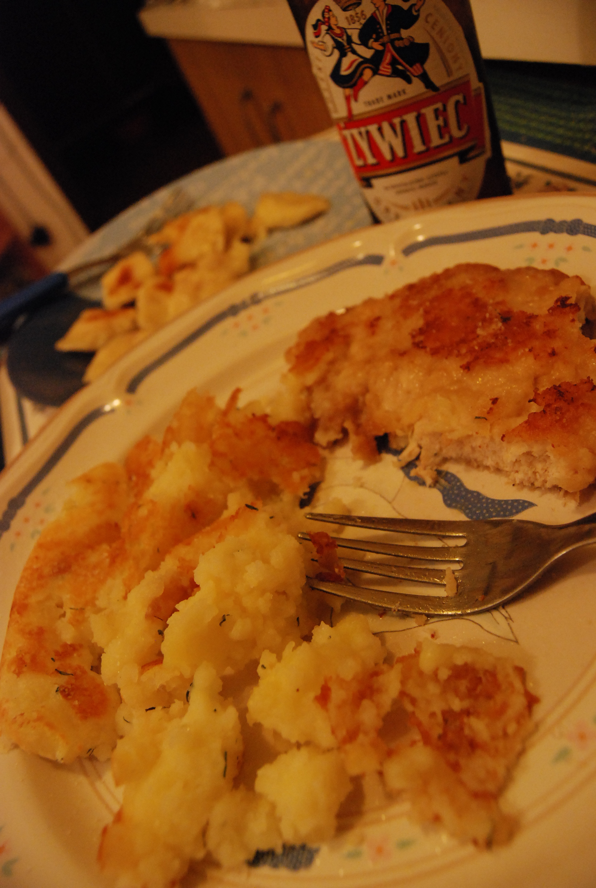 schabowy (pork chops) and potatoes... famous Polsih combination