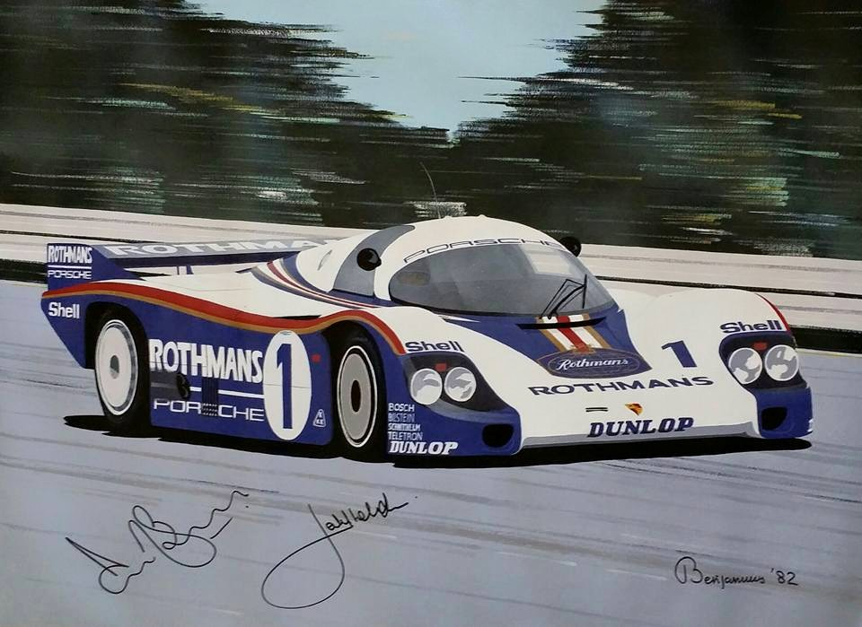 ''956'' Autographed by Derek Bell and Jacky Ickx""