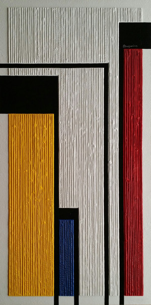 ''COMPOSITION IN YELLOW, BLUE AND RED''