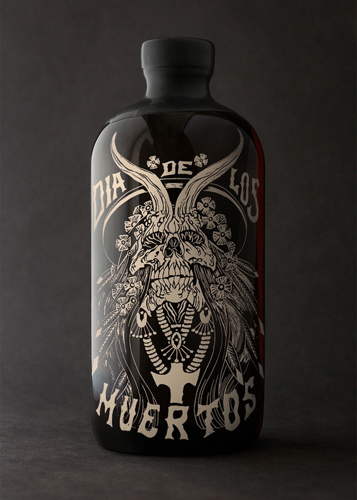 Dia De Los Muertos Rum Package Design by Tim Gatto and Alex Matus for  Auston Design