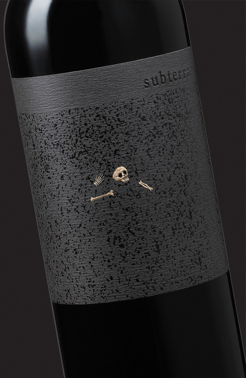 Subterra Wine Label Design by Tim Gatto for Auston Design Group