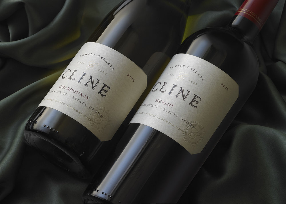 Cline Cellars – Sonoma Coast Label Design by Tim Gatto for Auston Design Group