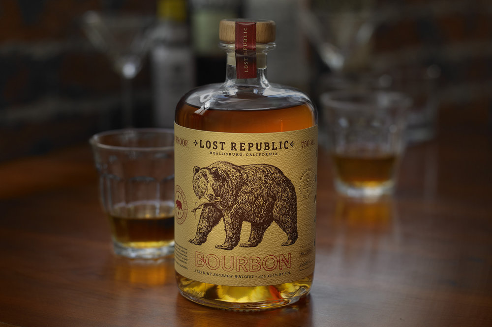 Lost Republic Bourbon Design by Tim Gatto for Auston Design Group