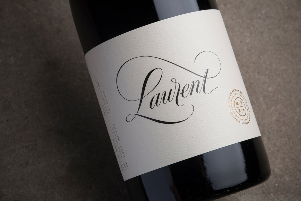 Laurent Wine Label for Metzker Family Estates by Tim Gatto Design
