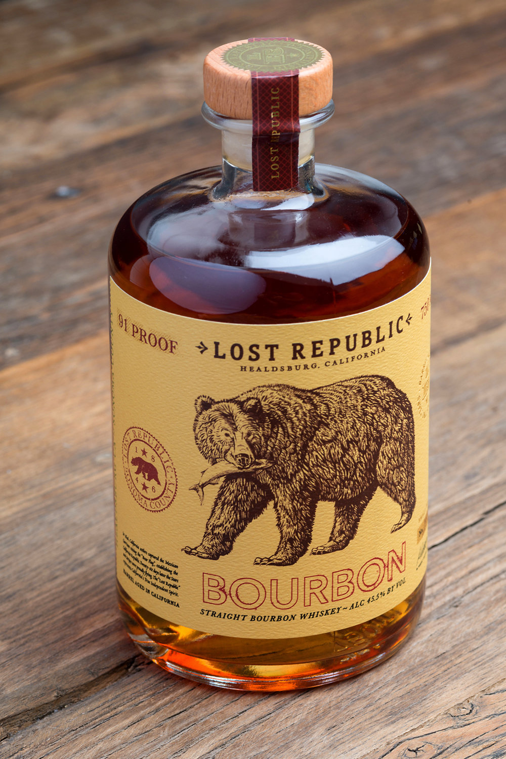Lost Republic Bourbon Package Design by Tim Gatto for Auston Design Group