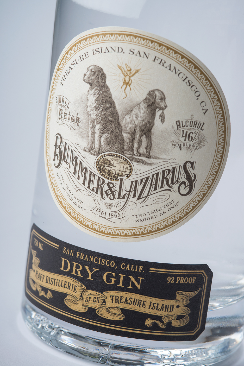 Bummer & Lazarus Gin Package Design by Tim Gatto for Auston Design Group