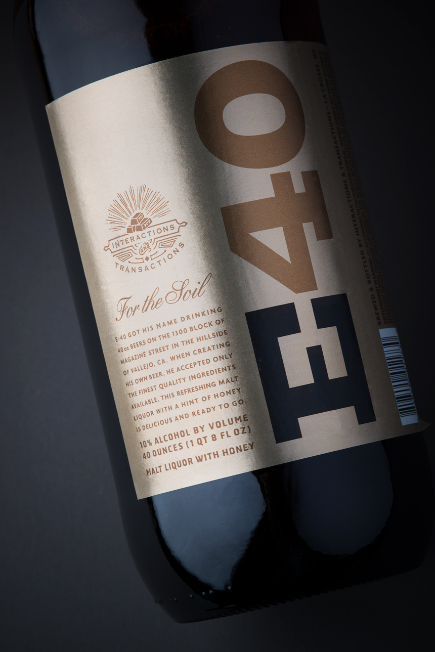 E-40 40oz Malt Liquor Design by Tim Gatto for Auston Design Group