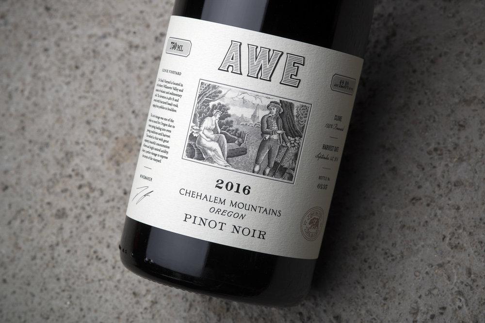 AWE Wine Label Design by Gatto Design