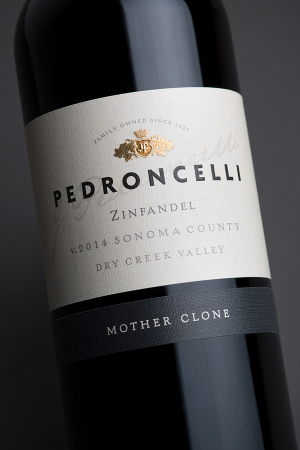Pedroncelli Label Design by Tim Gatto for Auston Design Group