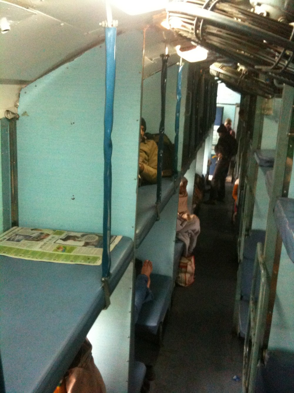 INDIA - Second class sleeper train. Pay the extra and book a First class ticket if you are on your own!
