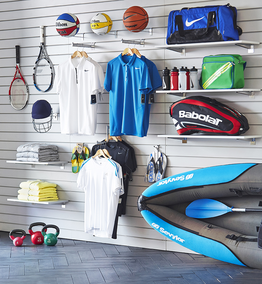Sports shop Slatwall set