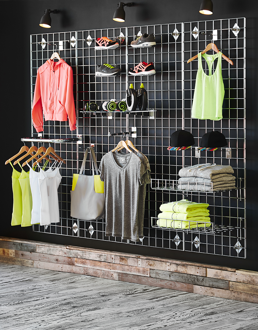 Urban sports shop Gridwall set