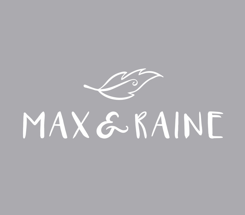 Max & Raine logo design - Logo design featuring hand drawn feather