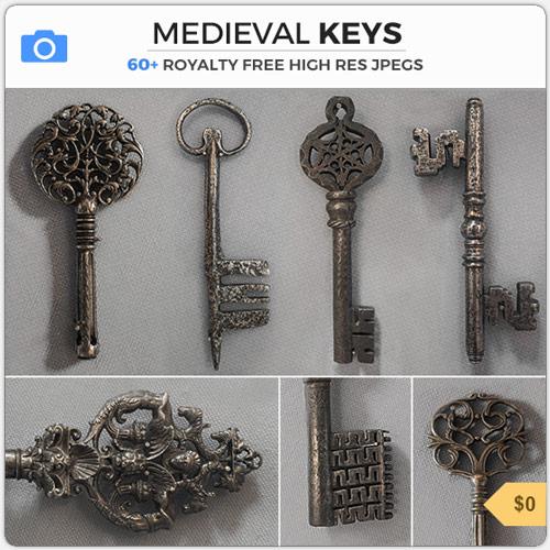 MedievalIronOrnateKeys