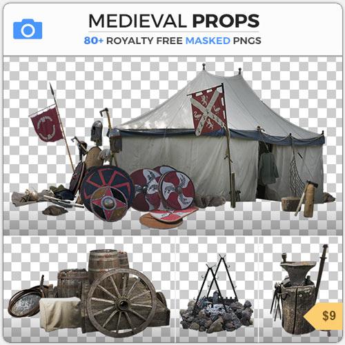 MedievalPropsMaskedObjectsPNG