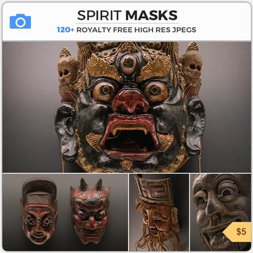 Spirit Masks Ritual Props