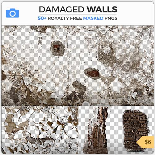 DamagedWallsGrungeDecals