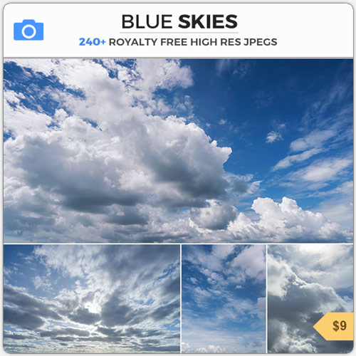 BlueSkyWhiteClouds