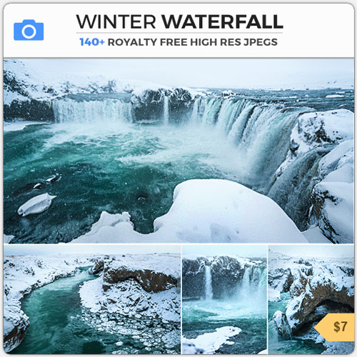 WinterWaterfallFrostCascades