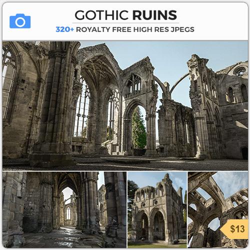 Gothic Ruins Scottish Arches