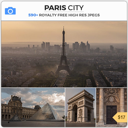 Paris City France Eiffel Tower Matte Painting Aerial