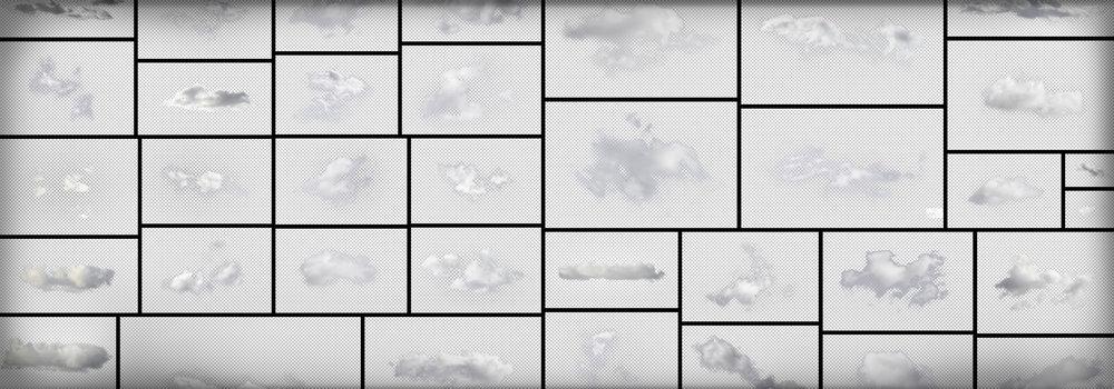 PNG Masked Clouds Transparent Background