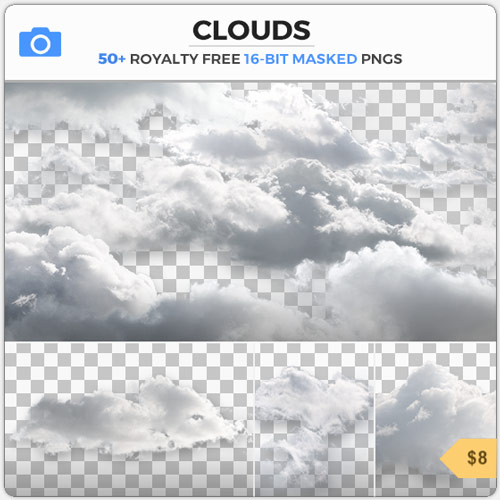 Masked PNG Cumulus Clouds Sky Cut Out