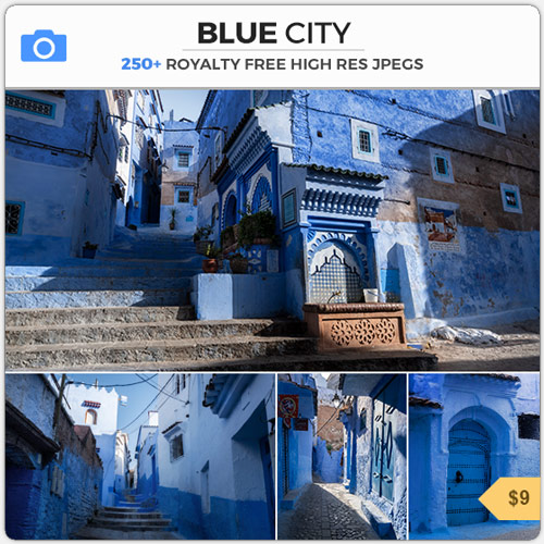 Blue City Moorish Arabic Medina Town