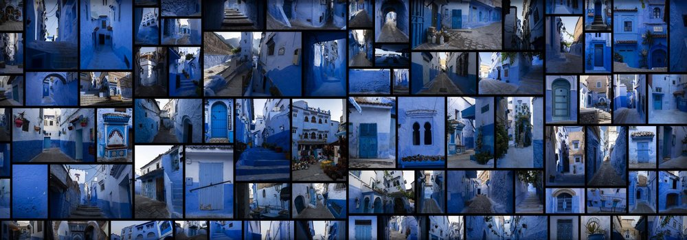 Blue City Moorish Chefchaouen Morocco Reference