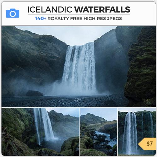 Icelandic Waterfalls Moody Foggy Cascades Iceland