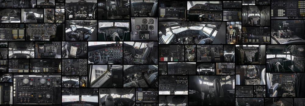 Aircraft Cockpit Switchboard Speedometer