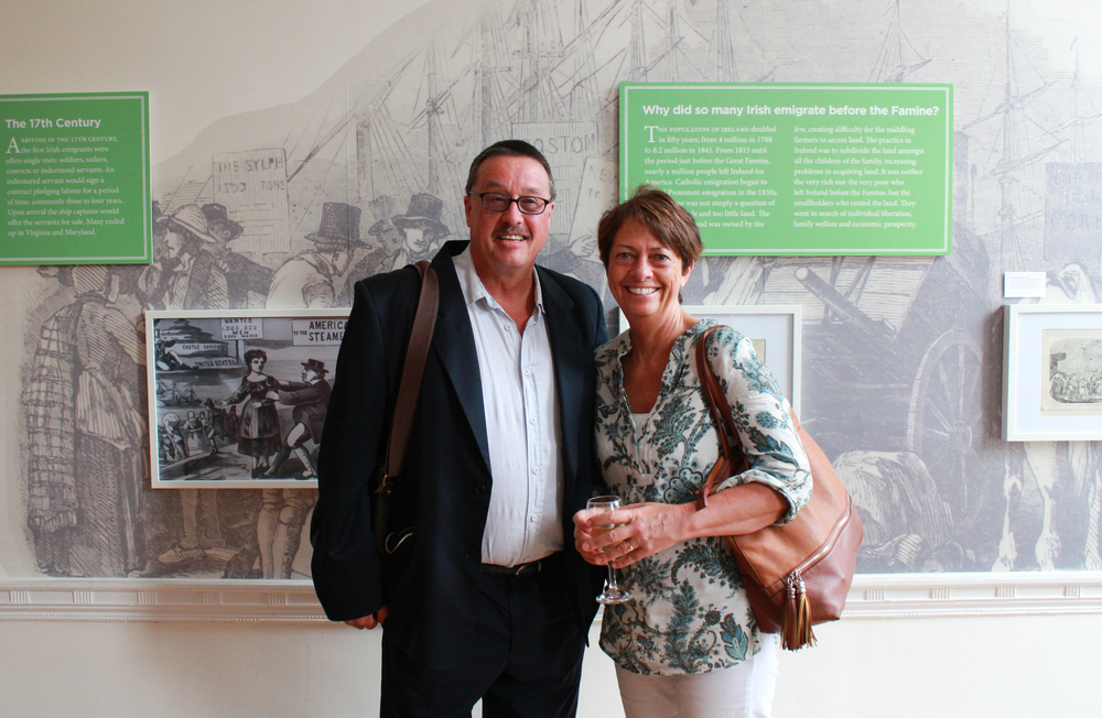 Brendan Landers and Dara Neary, former publishers of Ireland's Eye which was on display at the exhibition