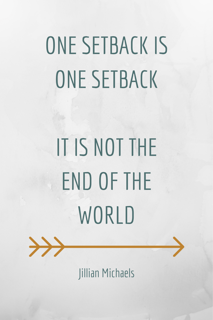 One setbackis one setback - it is not