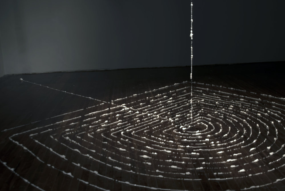 Momentary Gleam, 89 meters human hair 2011-19