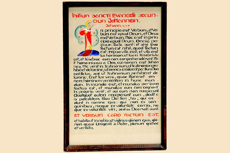 Gebeden voorgeschreven door Leo XII handgeschreven Altaarlijst foto Danny Brison