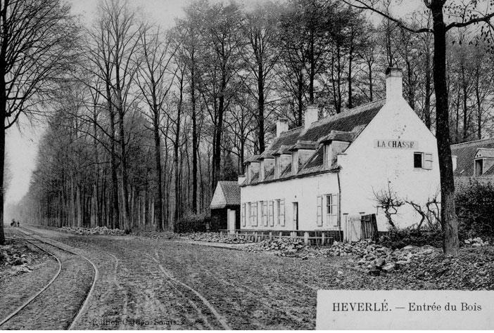 Jacht- en boswachtershuis, later restaurant La Chasse. Prentkaart