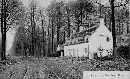 Naamsesteenweg en jachthuis 'De Jacht'. Prentkaart 1900
