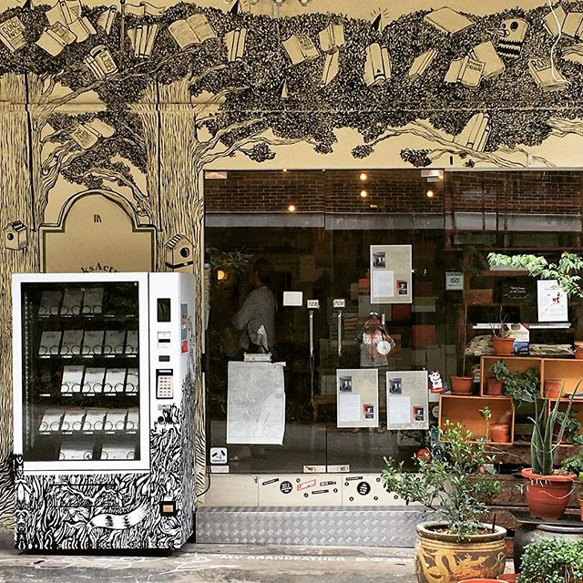 The coolest book shop there ever was, complete with 'mystery' book vending machine out front. Thanks @mariashollenbarger for the recommendation via @cntraveler @booksactually #tiongbahru #singapore #instatravel #books #wanderlust