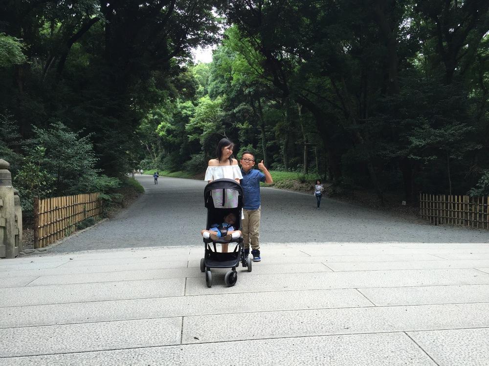 Meiji Shrine. PS. Love this  dress !
