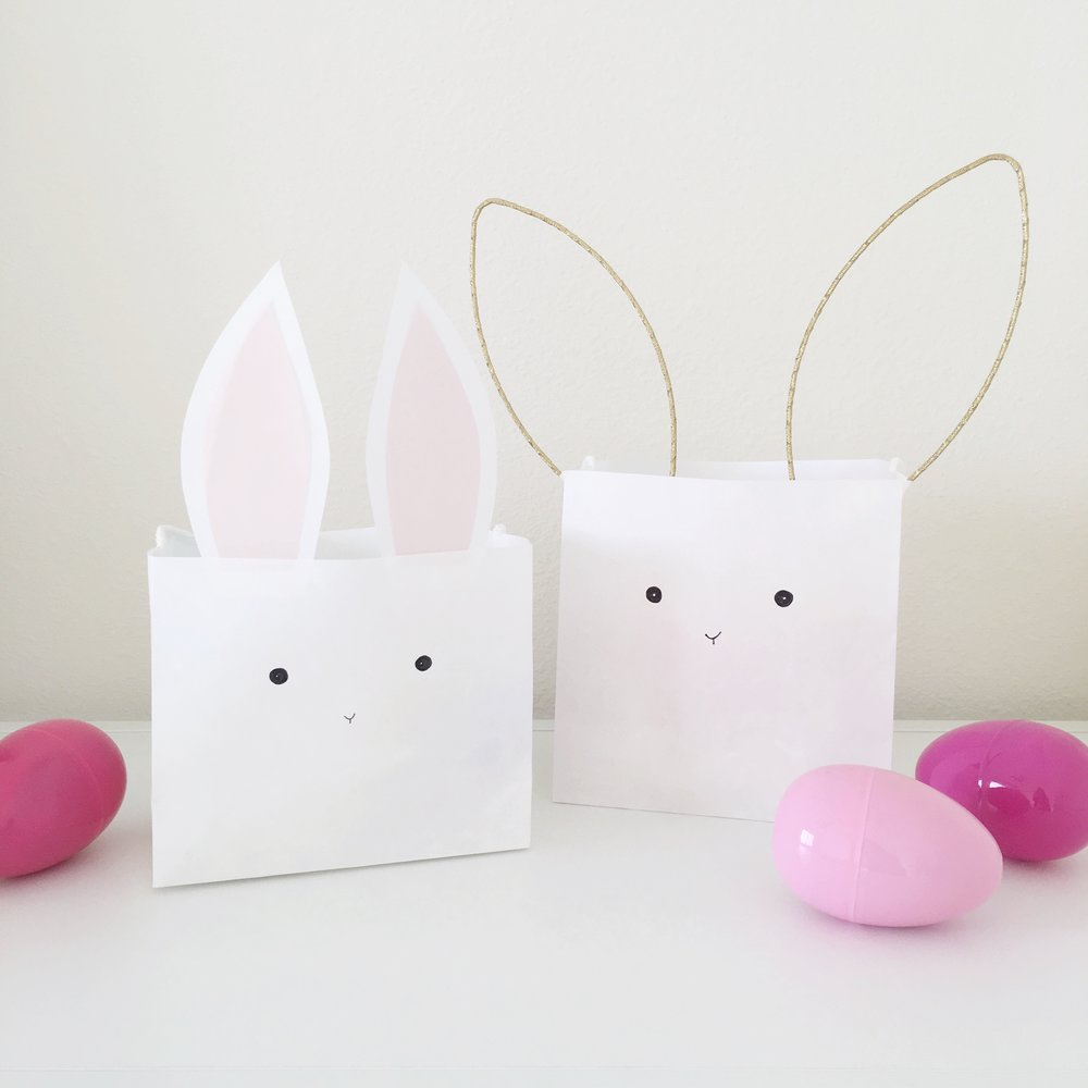 Bunny Favor Bags on meethaha.com