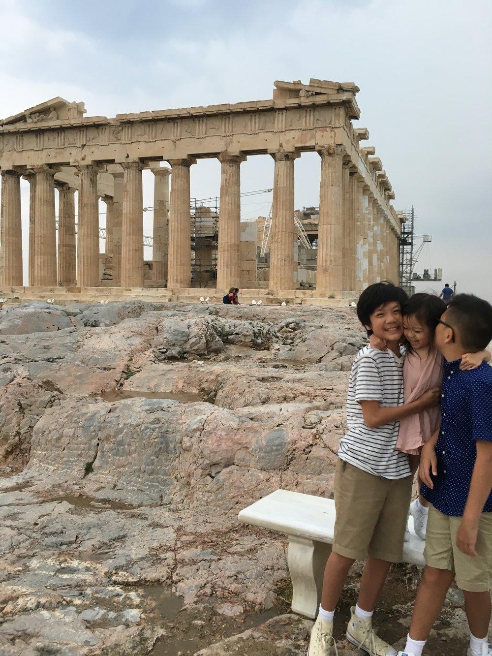 Acropolis with kids on meethaha.com