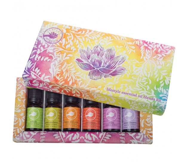 Lifestyle Blends Kit - $90 - No Postal Delivery - This kit contains six 10mL lifestyle oil blends to help you through your day - $22 eachRefresh Blend - Lemon, Sweet Orange, Grapefruit, LimeGreat Outdoors Blend - Eucalyptus, Tea Tree, Lemon MyrtleHappy & Calm Blend - Orange, Chamomile, LavenderCelebration Blend - Orange, Ylang Ylang, MandarinRelax Blend - Lavender, Orange, Geranium, Ylang YlangSweet Dreams Blend - Lavender, Clary Sage, Chamomile