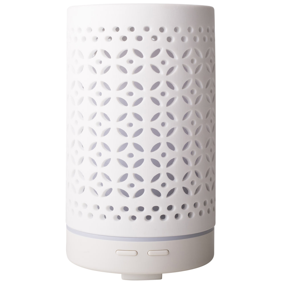 White Gobhan Diffuser - $90 - No Postal Delivery - Enjoy the beauty and simplicty of this gorgeously designed ceramic aromatherapy diffuser. Bring aromatherapy into your everyday and create a calming environment in your home or workplace by diffusing pure essential oils in our new Gohan Diffuser.DetailsAll of our diffusers are ultrasonic. An ultrasonic diffuser negates the positive ions which can be detrimental to our health. These positive ions are present because of electronics, plastic and other polluting chemicals in our environment.No heating element used; gently diffuses essential oils without heat. Ceramic cover in white or black. Continuous or intermittent settings. Operates for several hours and automatically turns off when water level is low. For use at home or office, BPA free